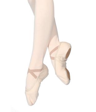Taneční piškoty látkové s rozdělenou podrážkou - dámské, tělové