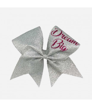 Glitter Cheer Bow Dream Big