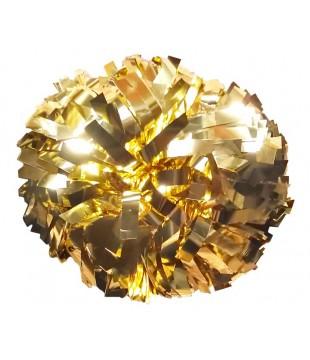 """Pompon metalický zlatá 6"""""""