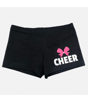 Shorts with Cheer and bow