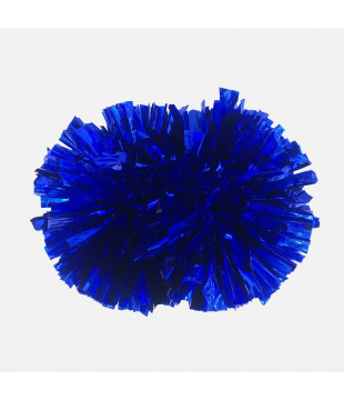 Pompoms Basic - metallic blue