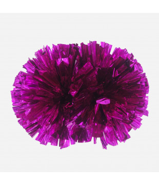 Pompoms Basic - metallic dark pink
