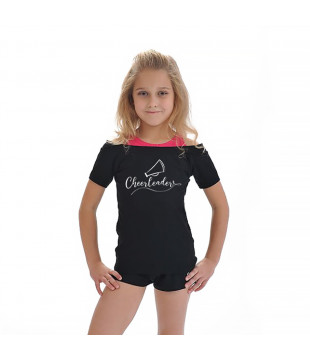 Kids T-shirt Duo - cheerleader with a megaphone