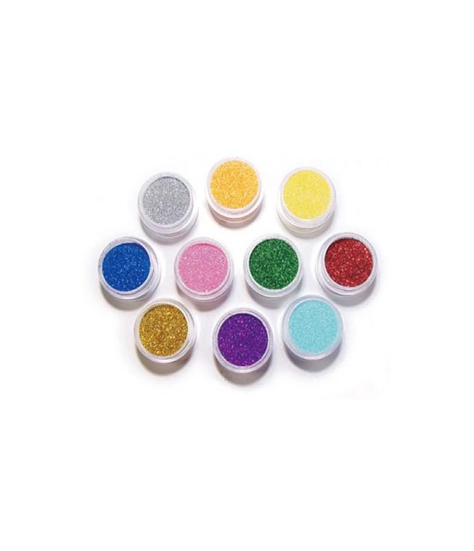 Sypké třpytky v mnoha barvách