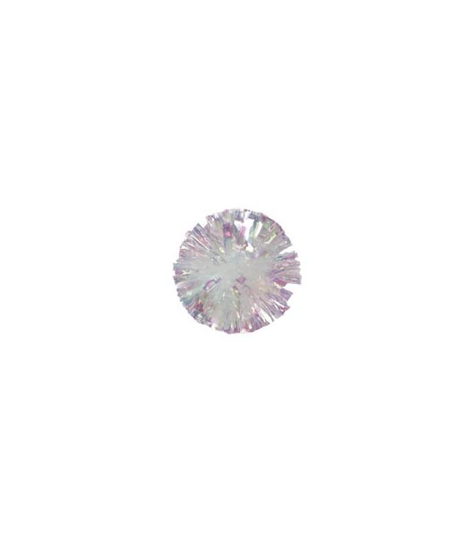 Pompony Iridescent Crystal Rainbow jednobarevné