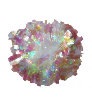 Pompoms - Crystal Rainbow - Iridescent 6""