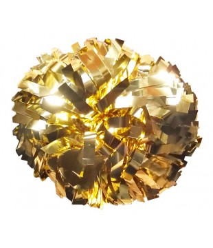 Pompoms metallic - gold 6""