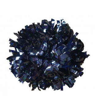 Pompoms holographic - black 10""