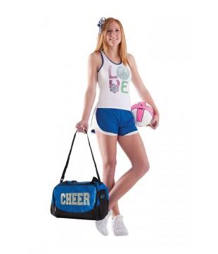 Malá sportovní taška s třpytivým CHEER