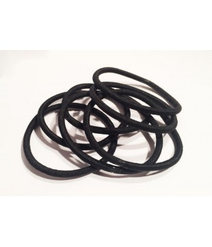 Černé gumičky do vlasů bez kovového spoje, balení 10 ks