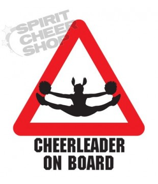 "Car sticker ""Cheerleader on board"" - toetouch"