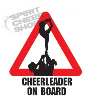 "Car sticker ""Cheerleader on board"" - scorpion"
