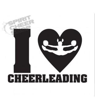 Samolepka I love cheerleading