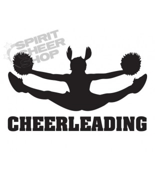 Car/multipurpose sticker - Cheerleading toetouch