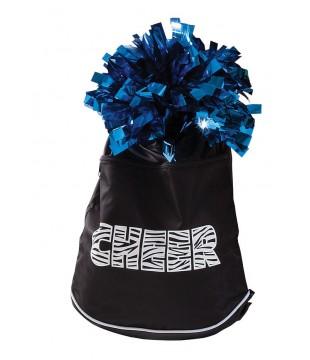 Pom bag - batůžek na šňůrku Pizzazz CHEER - černý (pompon není součástí)