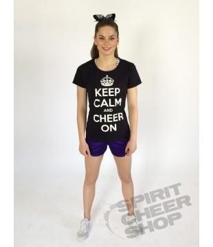 Dámské tričko KEEP CALM AND CHEER ON