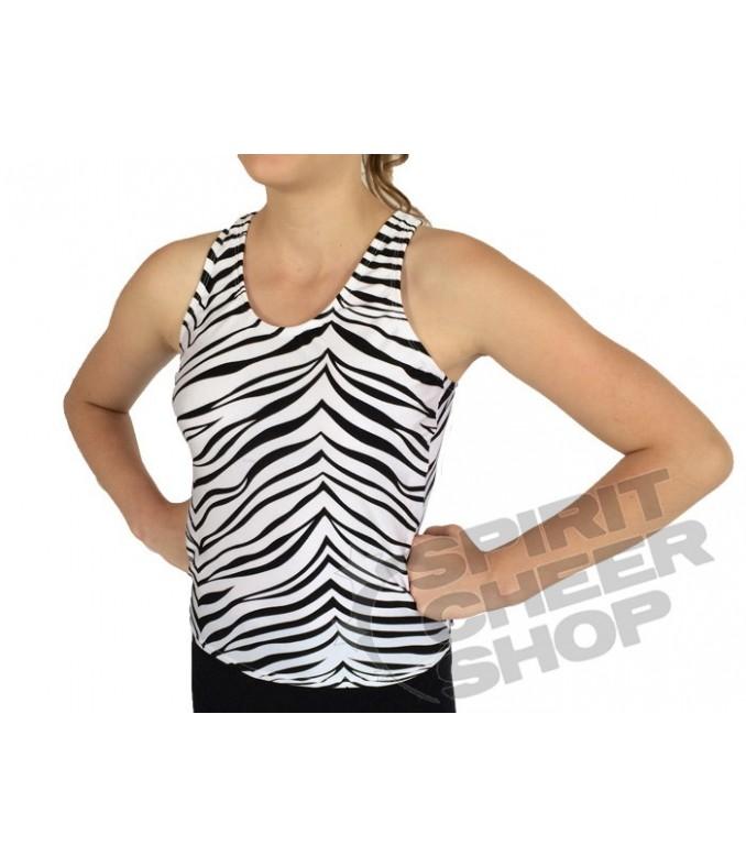 Pizzazz elastické tílko zebra
