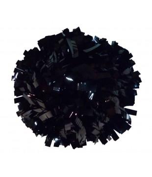 """Pompony Metallic černé 8"""""""