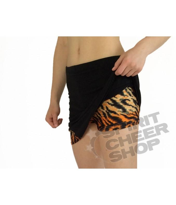 Černý skort s tygřím trojúhelníčkem a kraťásky, vel. L