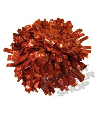 Pompoms - holographic - orange 10""